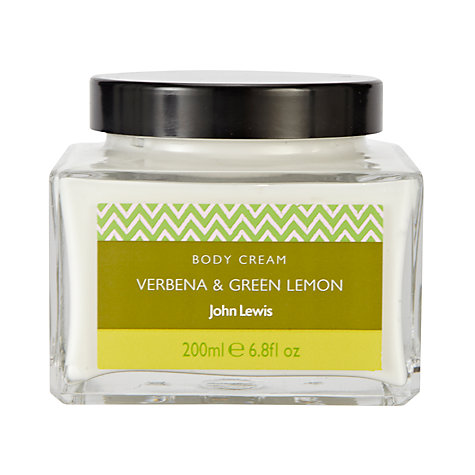 Buy John Lewis Verbena and Green Lemon Bath and Body Cream, 200ml Online at johnlewis.com