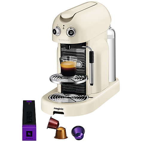Buy Nespresso Maestria Coffee Machine by Magimix, Cream Online at johnlewis.com