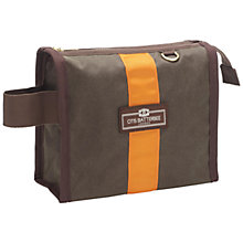 Buy Otis Batterbee Wax Olive Wash Bag, Small Online at johnlewis.com
