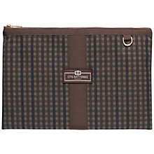 Buy Otis Batterbee Check A4 Travel Pouch Online at johnlewis.com