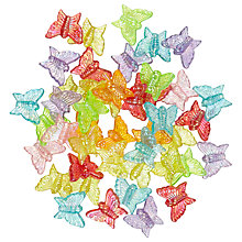 Buy John Lewis Butterfly Plastic Beads, 15g, Multi Online at johnlewis.com