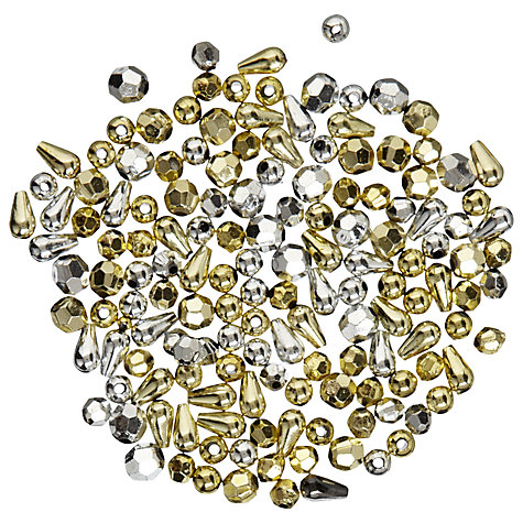Buy John Lewis Plastic Beads, 20g, Gold & Silver Online at johnlewis.com