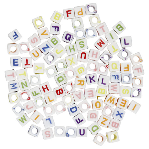 Buy John Lewis Alphabet Beads, Pack of 100, Multi Online at johnlewis.com