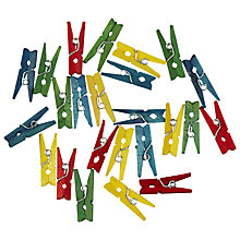 Buy John Lewis Mini Crafting Wooden Pegs, Multi, Pack of 25 Online at johnlewis.com