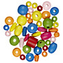 John Lewis Assortment of Wooden Beads, 20g, Multi