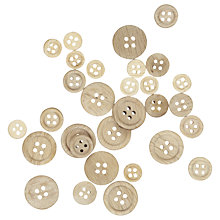 Buy John Lewis Assortment of Wooden Buttons, Pack of 30 Online at johnlewis.com
