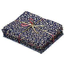 Buy Ditsy Flower Fat Quarter Bundle, Pack of 8, Navy/Yellow Online at johnlewis.com