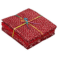 Buy Ditsy Flower Fat Quarter Bundle, Pack of 8, Cream/Red Online at johnlewis.com