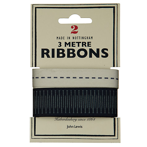 Buy John Lewis Heritage 3m Ribbon, Pack of 2, Pins and Dashes Online at johnlewis.com