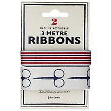 Buy John Lewis Heritage 3m Ribbon, Pack of 2, Stripes and Scissors Online at johnlewis.com