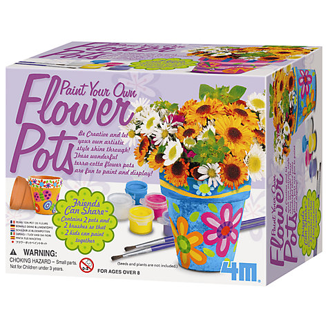 Buy Paint Your Own Flower Pots Kit Online at johnlewis.com