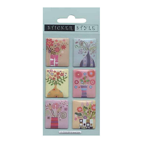 Buy Flower Vase Panel Stickers Online at johnlewis.com