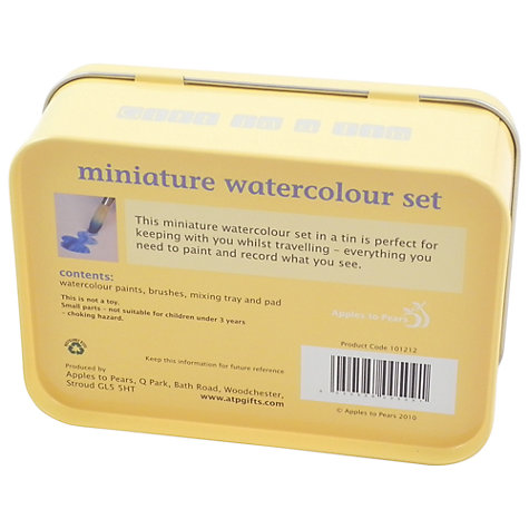 Buy Apples To Pears Mini Tin, Miniature Watercolour Set Online at johnlewis.com