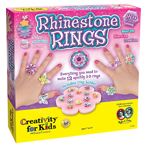 Buy Creativity for Kids Rhinestone Rings Set Online at johnlewis.com