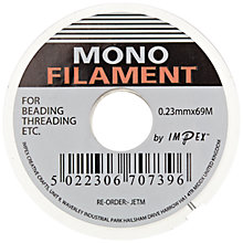 Buy Monofilament Cord, 69m, Clear Online at johnlewis.com