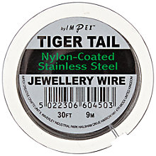 Buy Groves A La Mode 'Tiger Tail' Beading Wire, 9m, Silver Online at johnlewis.com