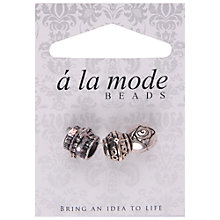 Buy Groves A La Mode Decorative Embellished Beads, Pack of 3, Silver Online at johnlewis.com