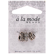 Buy Groves A La Mode Enamel Charms, Pack of 3, Silver Online at johnlewis.com