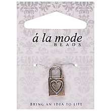Buy Groves A La Mode Charm, Padlock, Silver Online at johnlewis.com
