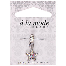Buy Groves A La Mode Charm, Star, Silver Online at johnlewis.com