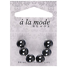 Buy Groves A La Mode Enamel Beads, Pack of 6, Grey Online at johnlewis.com
