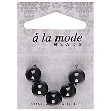 Buy Groves A La Mode Enamel Beads, Pack of 5, Black Online at johnlewis.com