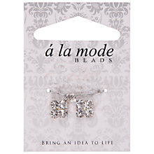 Buy Groves A La Mode Diamante Charms, Pack of 2, Silver Online at johnlewis.com
