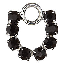 Buy Groves A La Mode Charm, Diamante Horse Shoe, Black/Silver Online at johnlewis.com