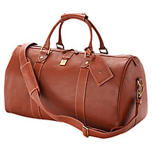 Buy Aspinal of London Boston Travel Holdall, Tan Online at johnlewis.com