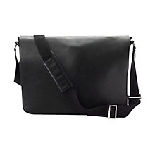 Buy Aspinal of London Cassidy Smooth Leather Messenger Bag, Black Online at johnlewis.com