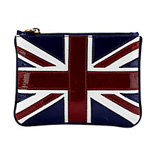 Buy Aspinal of London Brit Flat Cosmetic Pouch, Navy Online at johnlewis.com
