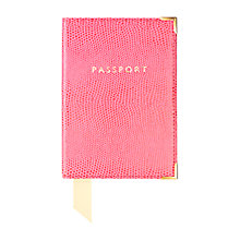 Buy Aspinal of London Plain Passport Cover Online at johnlewis.com