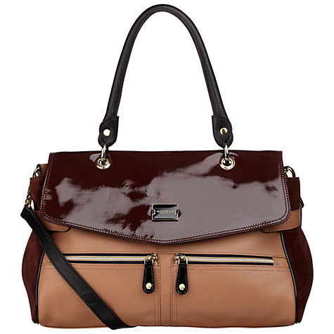 Buy Modalu Pippa Satchel Handbag, Ruby Mix Online at johnlewis.com