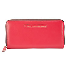Buy John Lewis Zip Around 'It's What Inside That Counts' Large Purse, Red Online at johnlewis.com