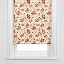 Buy John Lewis Chrysanth Roller Blind, Scarlet Online at johnlewis.com