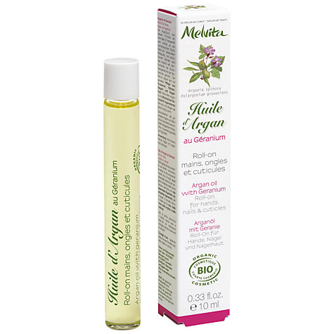 Buy Melvita Argan Oil with Geranium Roll-On for Hands, Nails and Cuticles, 10ml Online at johnlewis.com