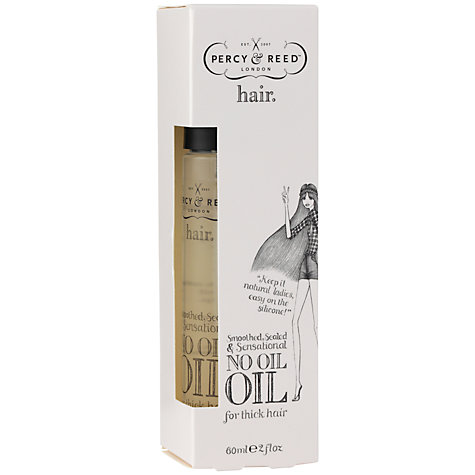 Buy Percy & Reed Smoothed, Sealed and Sensational No Oil Oil for Thick Hair, 60ml Online at johnlewis.com