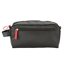 Buy John Lewis Rectangular Men's Toiletries Bag, Black Online at johnlewis.com