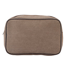 Buy John Lewis Fabric Wash Bag, Brown Online at johnlewis.com