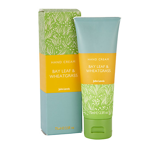 Buy John Lewis Bay Leaf and Wheat Grass Hand Cream, 75ml Online at johnlewis.com