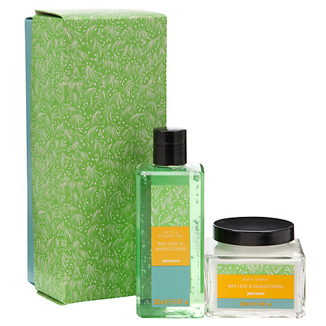 Buy John Lewis Bayleaf and Wheatgrass Shower Gel and Body Cream Gift Set Online at johnlewis.com