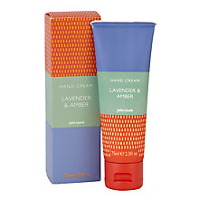 Buy John Lewis Lavender and Amber Hand Cream, 75ml Online at johnlewis.com
