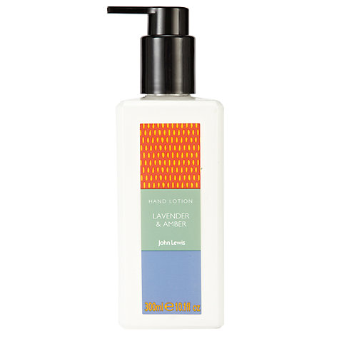 Buy John Lewis Lavender & Amber Hand Lotion, 300ml Online at johnlewis.com