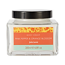 Buy John Lewis Pink Pepper and Orange Blossom Body Cream, 200ml Online at johnlewis.com