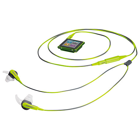 Buy Bose® SIE2 (In-Ear) Sport Headphones, Green/Grey Online at johnlewis.com