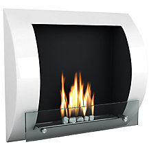Buy Imagin Fuego Bioethanol Fireplace, White Online at johnlewis.com