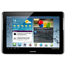 "Buy Samsung Galaxy Tab 2 Tablet, ARM Cortex A9, 1GHz, Android, 10.1"", Wi-Fi & 3G, 16GB, Silver Online at johnlewis.com"