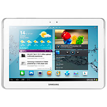 "Buy Samsung Galaxy Tab 2 Tablet, ARM Cortex A9, 1GHz, Android, 10.1"", Wi-Fi & 3G, 32GB, White Online at johnlewis.com"