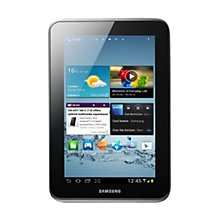 "Buy Samsung Galaxy Tab 2 Tablet, ARM Cortex A9, 1GHz, Android, 7"", Wi-Fi & 3G, 16GB, Silver Online at johnlewis.com"