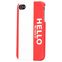 Buy Tshirt Store Name Tag Case for iPhone 4 & 4s Online at johnlewis.com